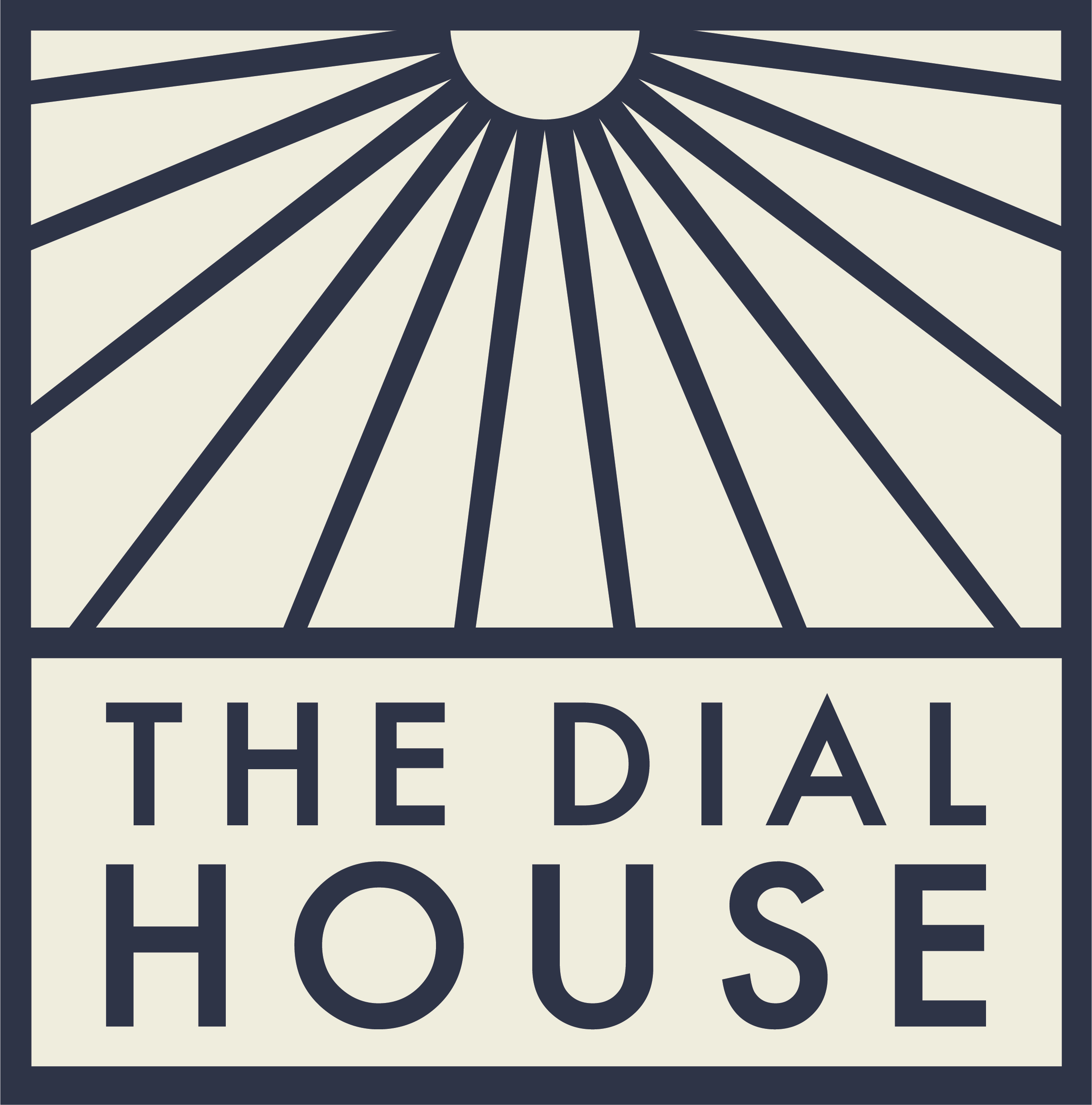 The Dial House Primary Logo Reversed